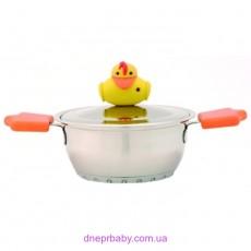 Кастрюля Sheriff Duck с крышкой, диам. 14 см, 1,2 л (Berghoff)