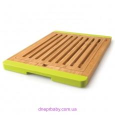 Доска для хлеба бамбуковая с силик. ручками, 38 х 37 см (Berghoff)