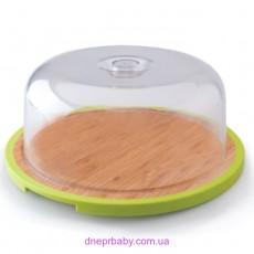 Доска круглая с пластиковой крышкой, диам. 33 см (Berghoff)