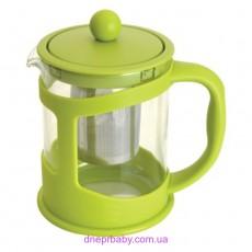 Чайник заварочный для чая, стекл., в подставке, 600 мл (Berghoff)