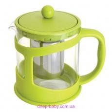 Чайник заварочный для чая, стекл., в подставке, 1 л (Berghoff)
