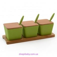 Набор банок на бамбуковой подставке, 10 пр. (Berghoff)