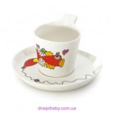 Чашка для чая Eclipse с блюдцем,  240 мл, (2 шт.) (Berghoff)