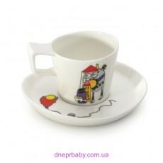 Чашка для эспрессо Eclipse с блюдцем, 800 мл, (2 шт.) (Berghoff)