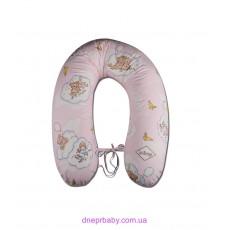Подушка для кормления Мишки на луне розовые (Идея)