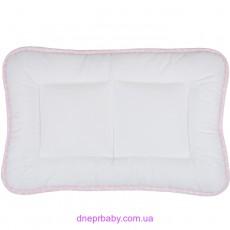 Подушка Baby 40*60 Сатин Горох розовая (Идея)