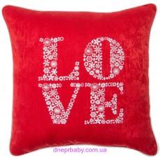 Подушка декоративная 47*47 Вышивка LOVE (Идея)