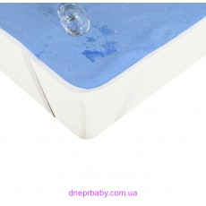 Наматрасник непромокаемый AQUA STOP 80*190 голубой (Идея)