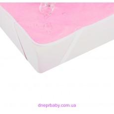 Наматрасник непромокаемый AQUA STOP 80*190 розовый (Идея)