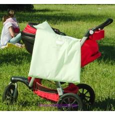 Комплект постельного в коляску зеленый (Идея)