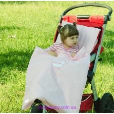 Комплект постельного в коляску розовый (Идея)