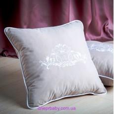 Подушка декоративная 47*47 Вензель серая (Идея)