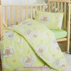 Комплект постельного Мишки зеленый (Идея)