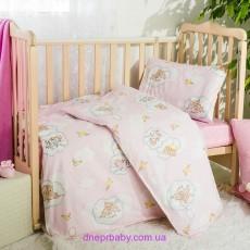 Комплект постельного Мишки розовые (Идея)