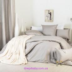 Комплект двуспальный-евро Сатин серо-беж (Идея)