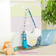 Сумка для прогулок с малышом синяя (Идея)