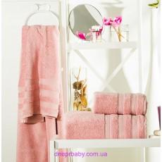Полотенце Бамбук 70*140 пудра (Идея)