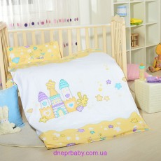 Комплект постельного Домики желтые (Идея)