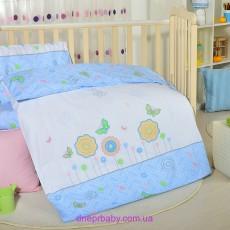 Комплект постельного Лето голубой-салат (Идея)