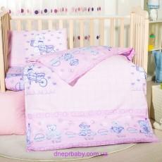 Комплект постельного Мишка розовый (Идея)