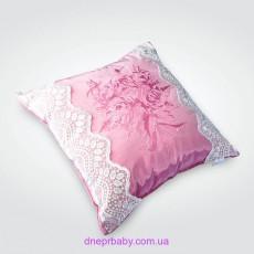 Подушка декоративная 45*45 с кружевом (Идея)