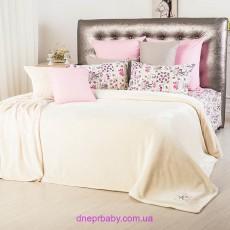 Набор Гармония Письмо розовое: Комплект постельного и плед (Идея)