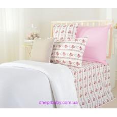 Набор Гармония Цветы: Комплект постельного и плед (Идея)