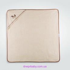 Пеленка-капюшон Пони 100*100 молоко (Идея)
