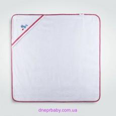 Пеленка-капюшон Морской котик 100*100 белая (Идея)