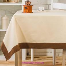 Скатерть Флора 150*180 Топленое молоко (Идея)