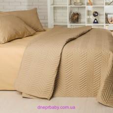 Набор Ретро Горох горчица: летнее одеяло и постельное белье (Идея)