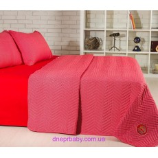 Набор Ретро Горох красное: летнее одеяло и постельное белье (Идея)