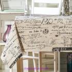 Скатерть льняная Письмо 130*210 (Идея)