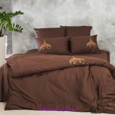Комплект двуспальный-евро Сатин шоколад (Идея)