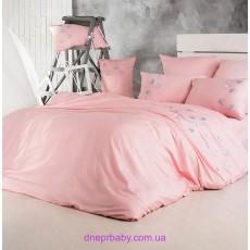 Комплект двуспальный-евро Сатин розовый кварц (Идея)