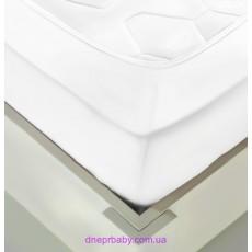 Простынь трикотажная на резинке 160*200 белая (Идея)